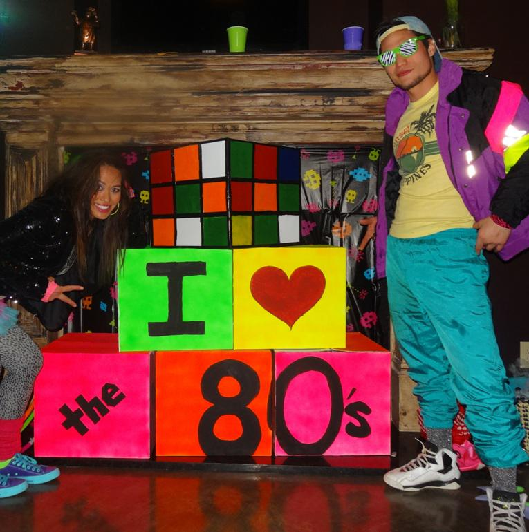 Image of: DIY 80s Party Decorations