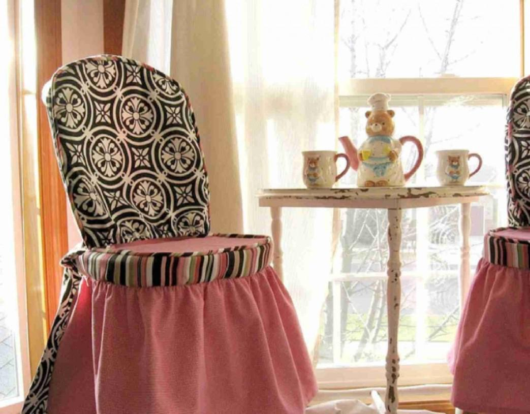 Image of: Dining Room Chair Covers Pattern