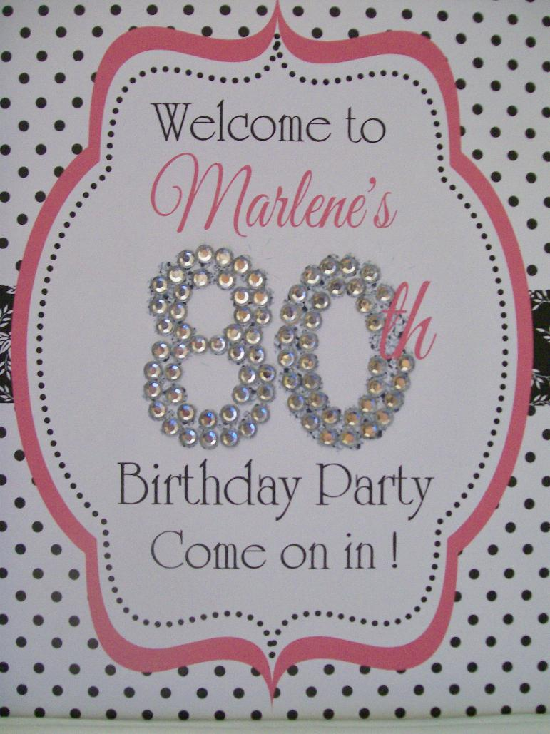 Image of: Discount 80th Birthday Decorations