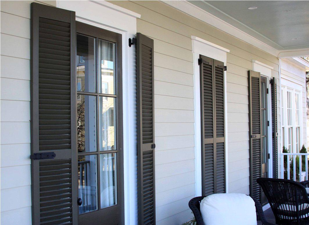 Image of: Exterior Shutters Wood