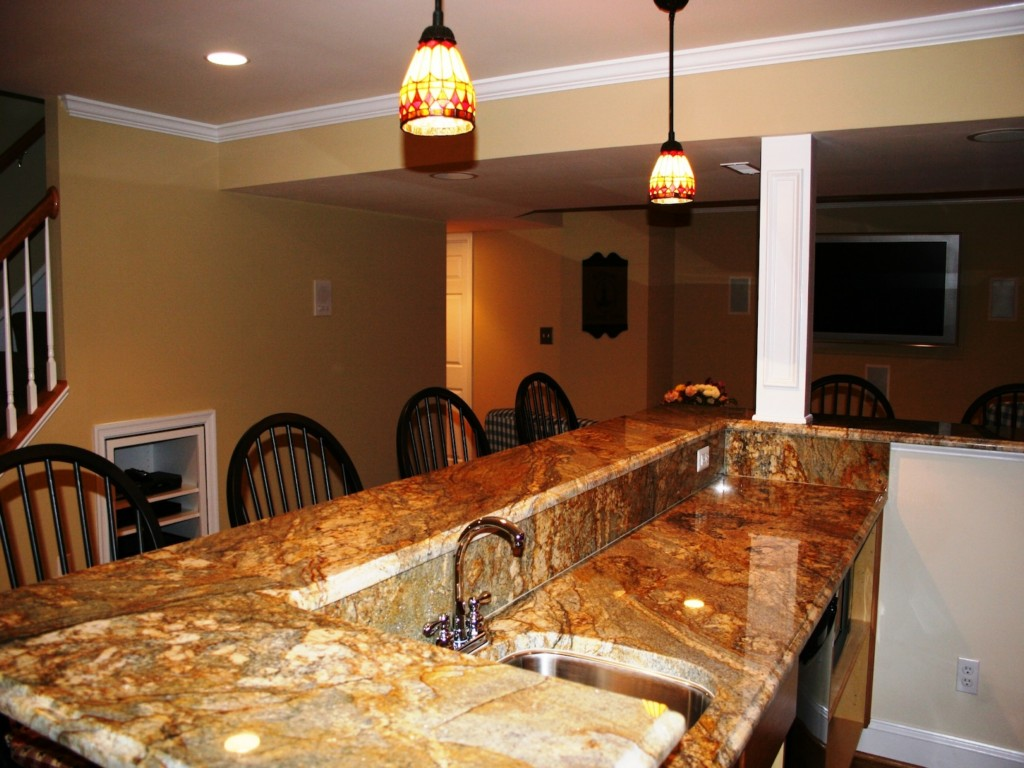Image of: Finished Basement Bar Ideas Designs Ideas