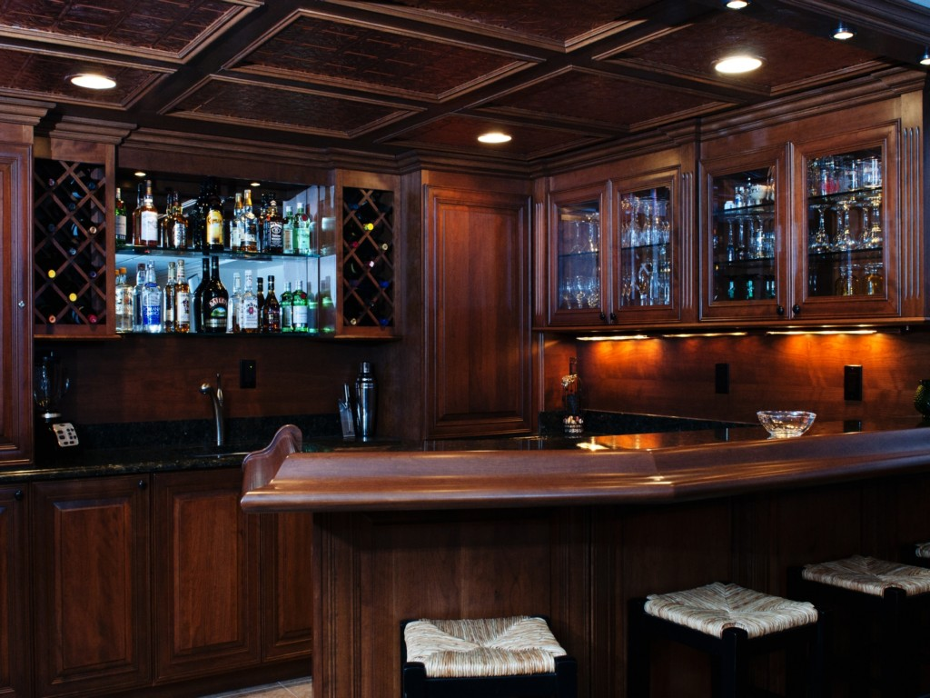 Image of: Finished Basement Bar Ideas