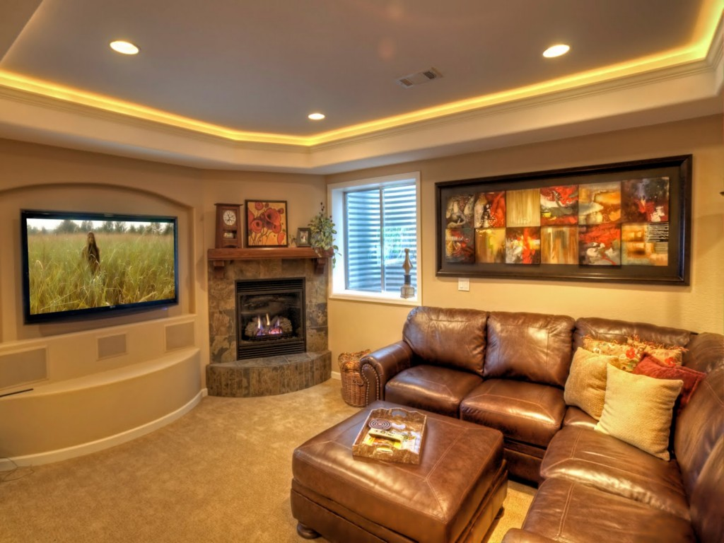 Image of: Finished Basement Images