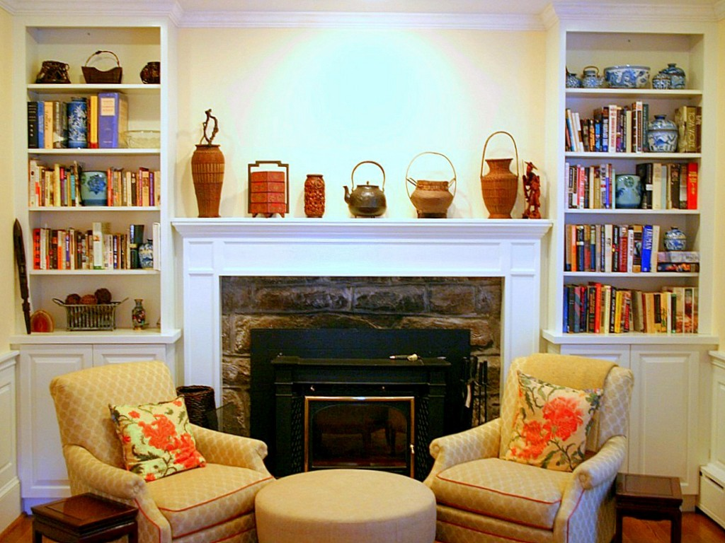 Image of: Fireplace Mantel Color Ideas