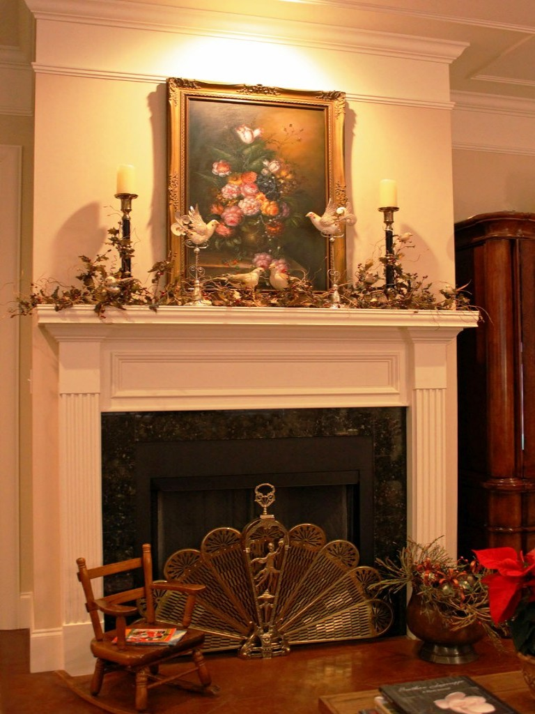 Image of: Fireplace Mantels Decor Ideas