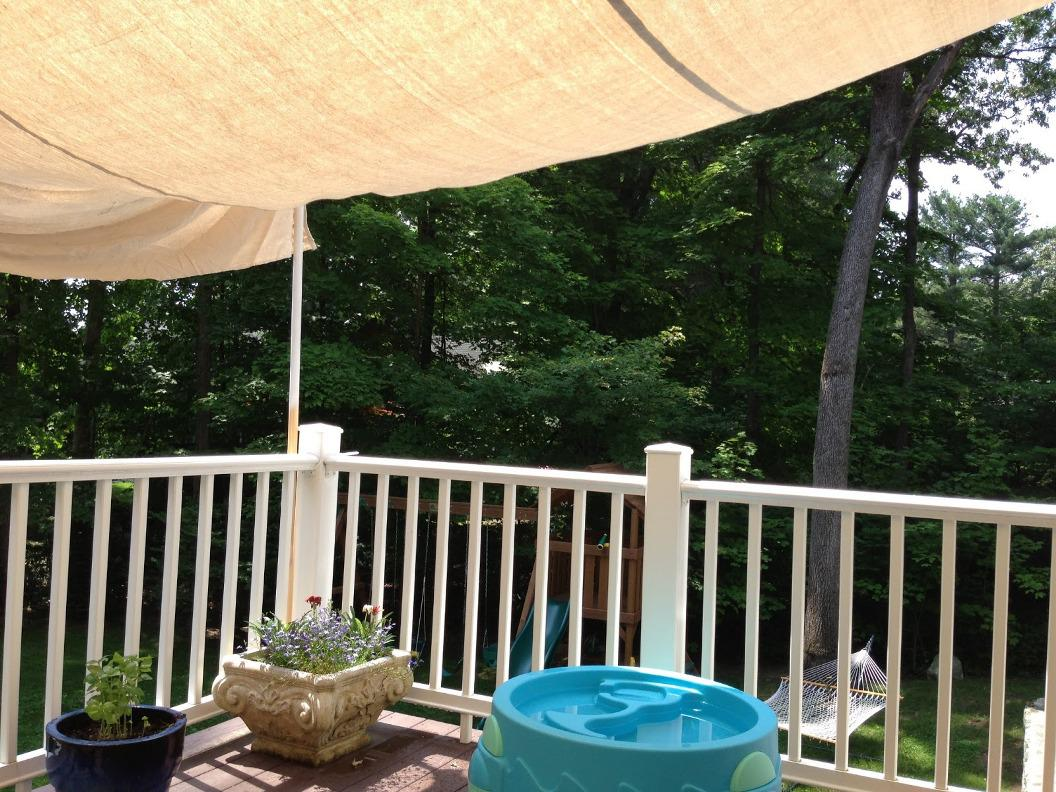 Image of: Freestanding Deck Canopy