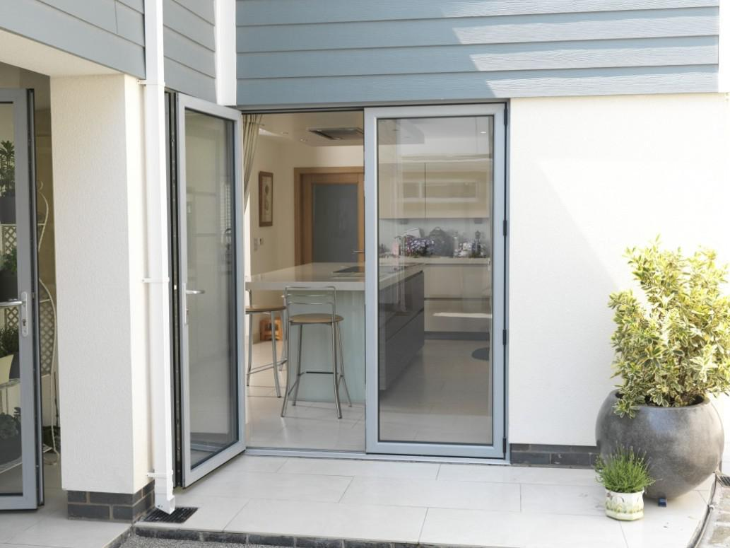 Image of: French Doors Exterior With Screens