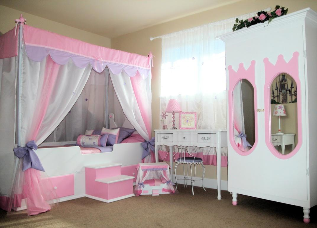 Image of: Girls Bed Canopy