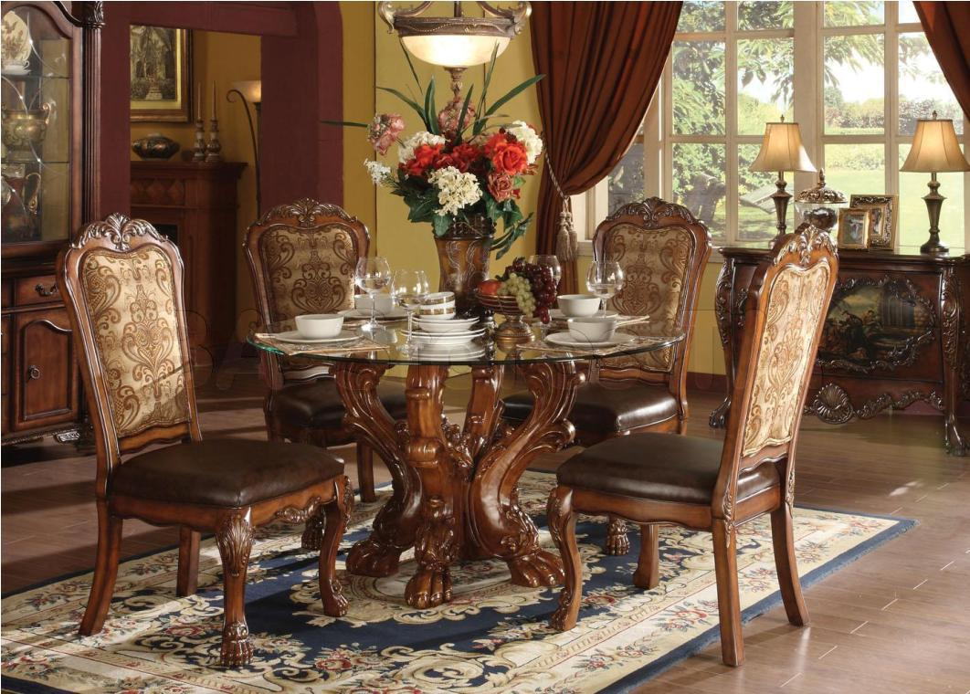 Image of: Glass Dining Room Tables And Chairs