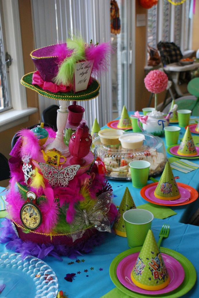 Image of: Homemade Alice in Wonderland Party Decorations