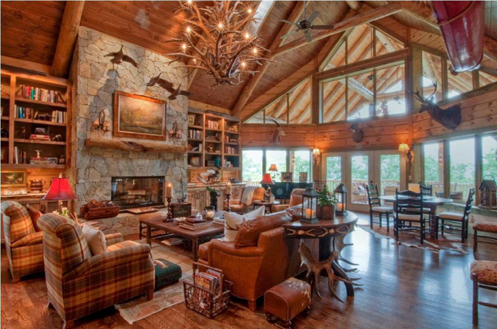 Image of: Log Cabin Decor Ideas