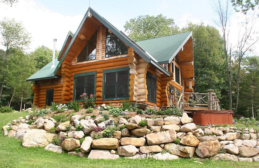 Image of: Log Cabin Decorating Ideas Modern