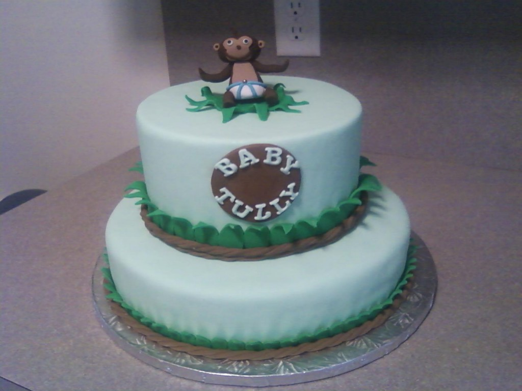 Image of: Monkey Cake For Baby Shower