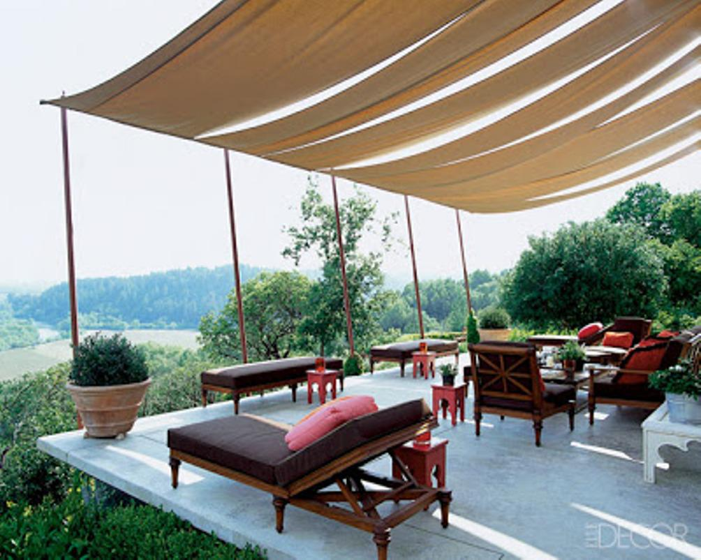 Image of: Outdoor Canopy Curtains