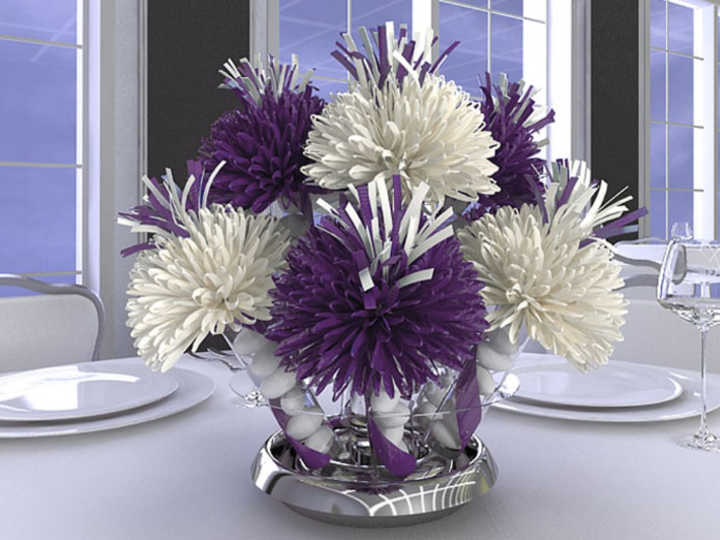 Image of: Quinceanera Table Centerpieces