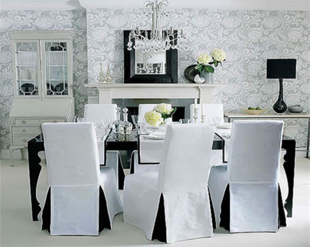 Image of: Removable Dining Chair Covers