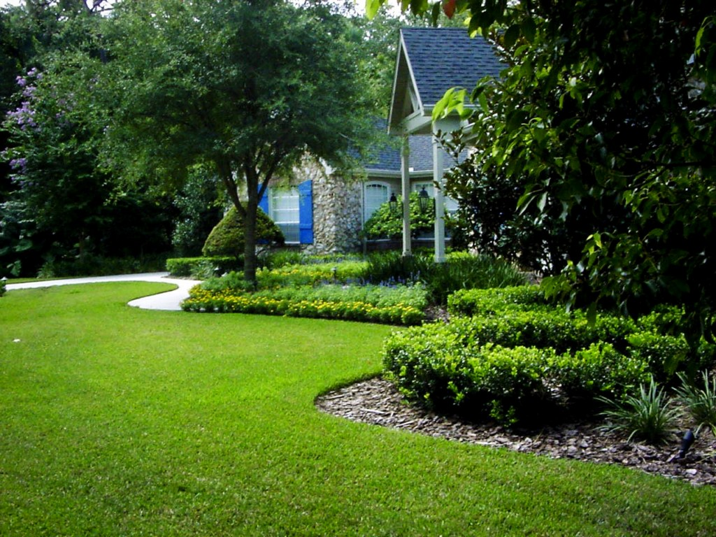 Image of: Small Yard Landscape Pictures