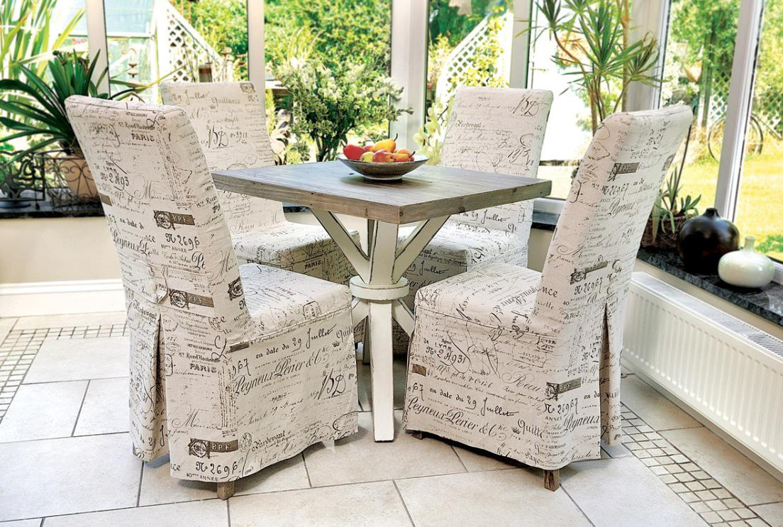 Image of: White Dining Chair Covers