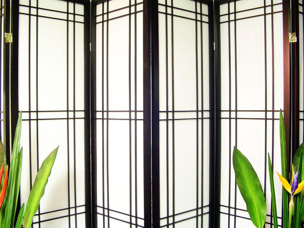 Image of: White Folding Screen Room Divider