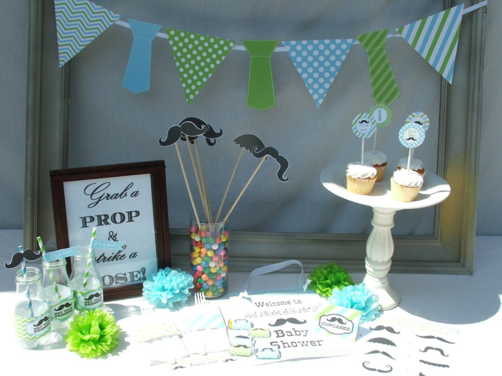 Image of: Baby Mustache Baby Shower