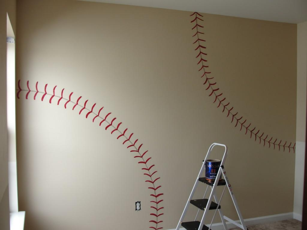 Image of: Baseball Wall Decorations