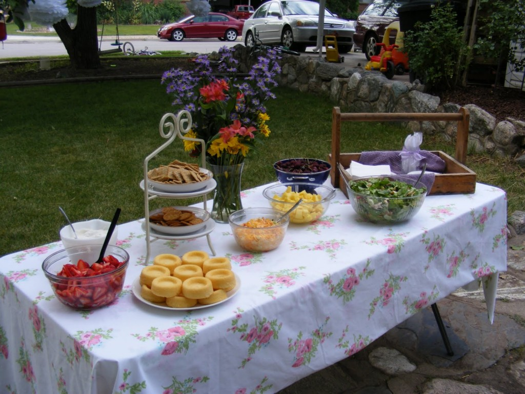 Image of: Bridal Shower Food