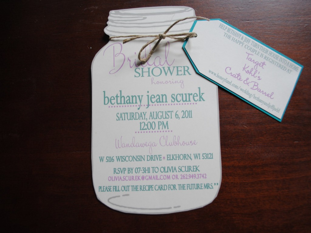 Image of: Bridal Shower Invitation Ideas