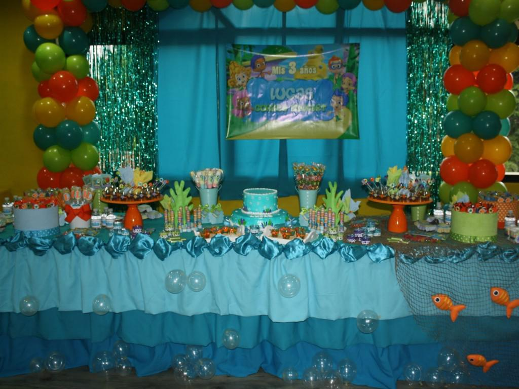 Image of: Bubble Guppies Birthday Decor Colorful