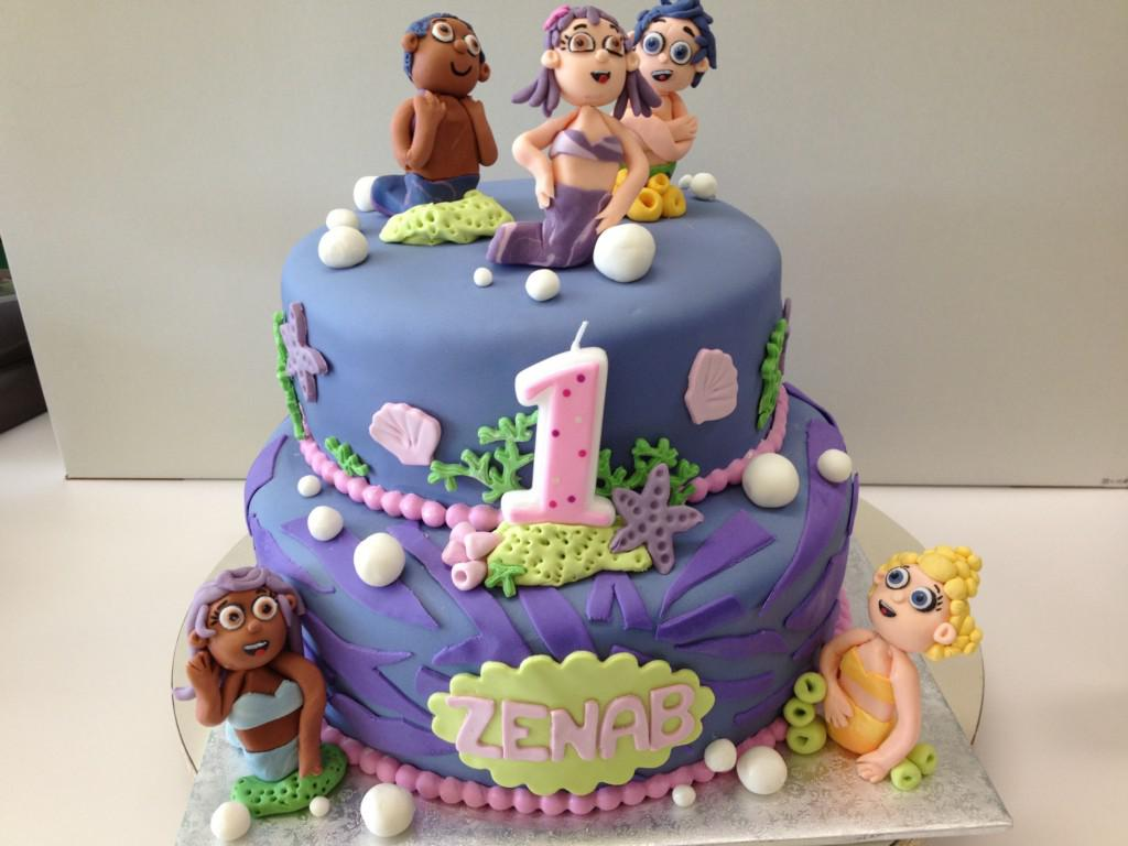 Image of: Bubble Guppies Cake Decorations
