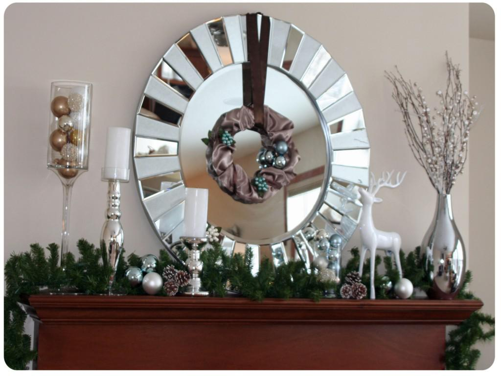 Image of: Christmas Mantel Decoration Accessories