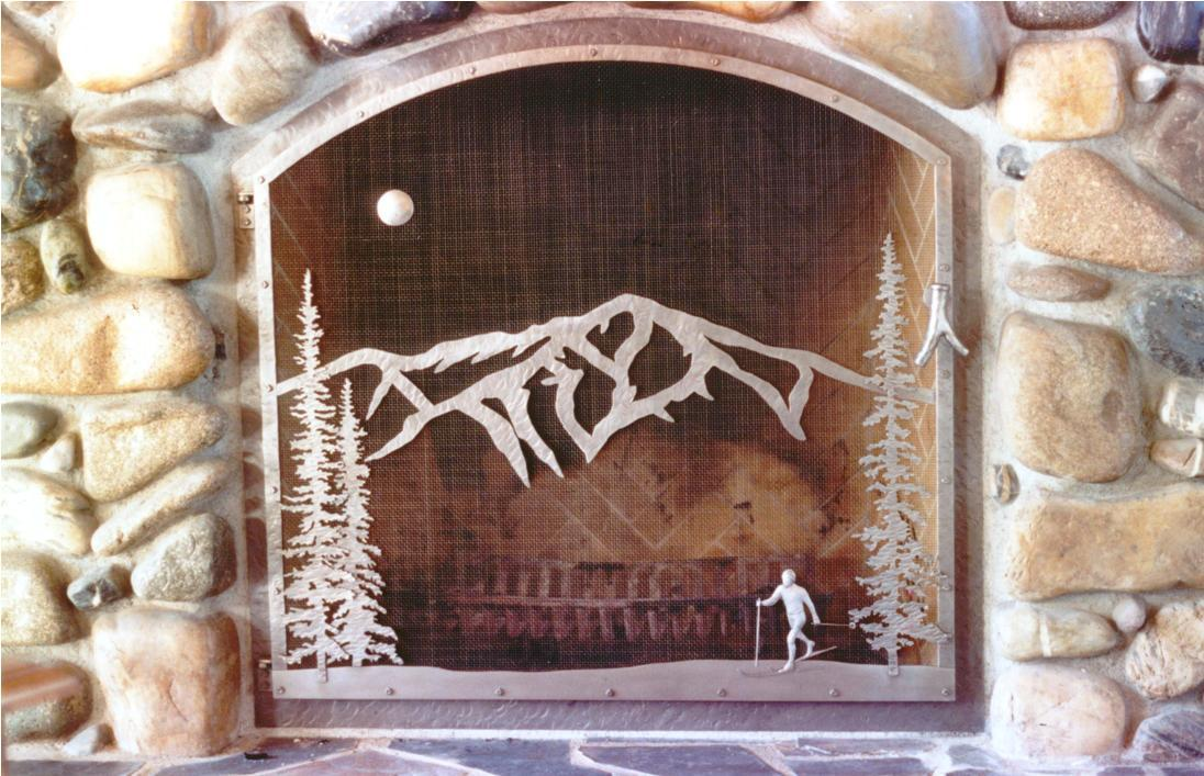 Image of: Custom Fireplace Screens