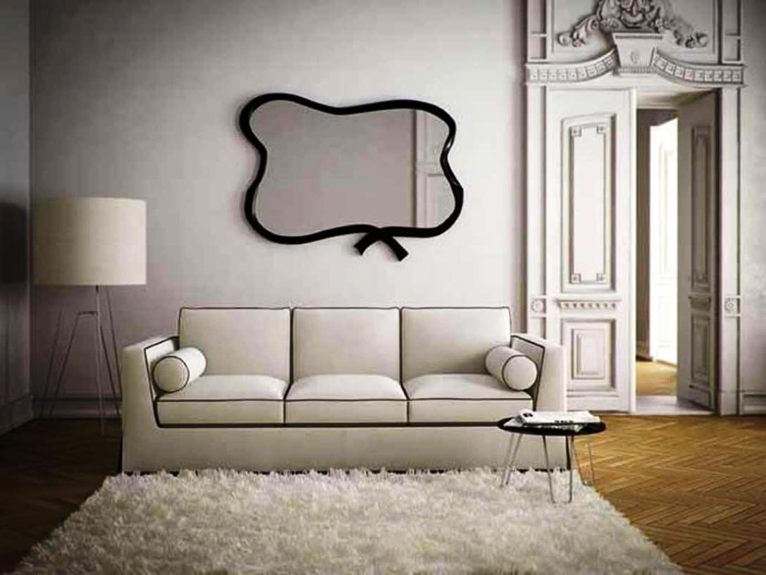 Image of: Decorating with Mirrors over Sofa