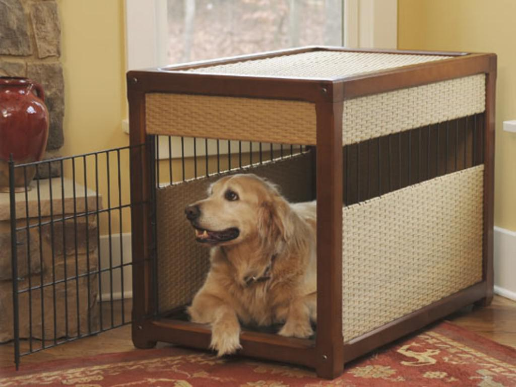 Image of: Decorative Dog Crates Furniture