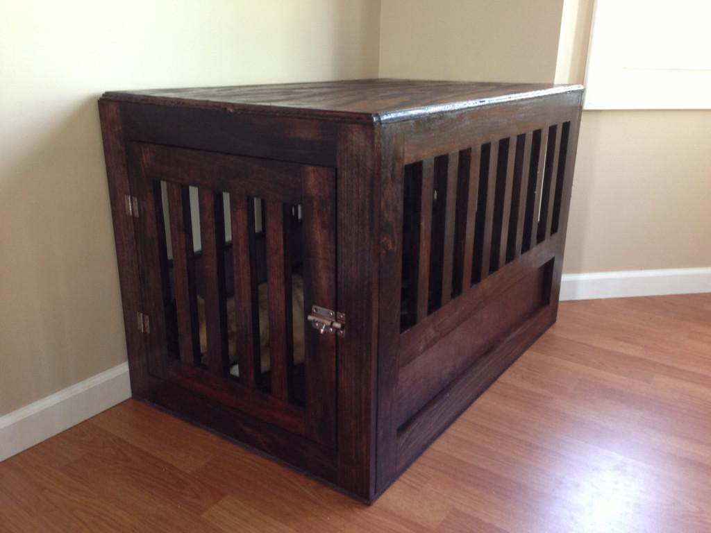 Image of: Decorative Dog Crates Wooden