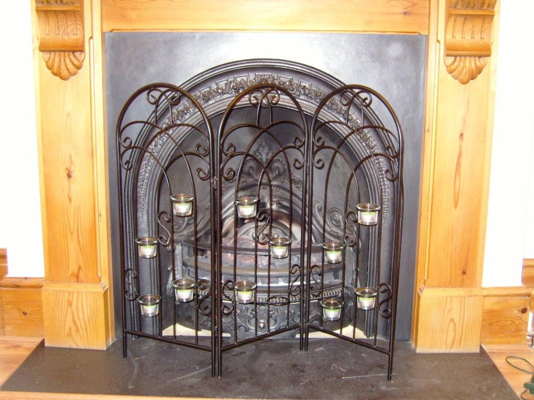 Decorative Fireplace Screens Wrought Iron