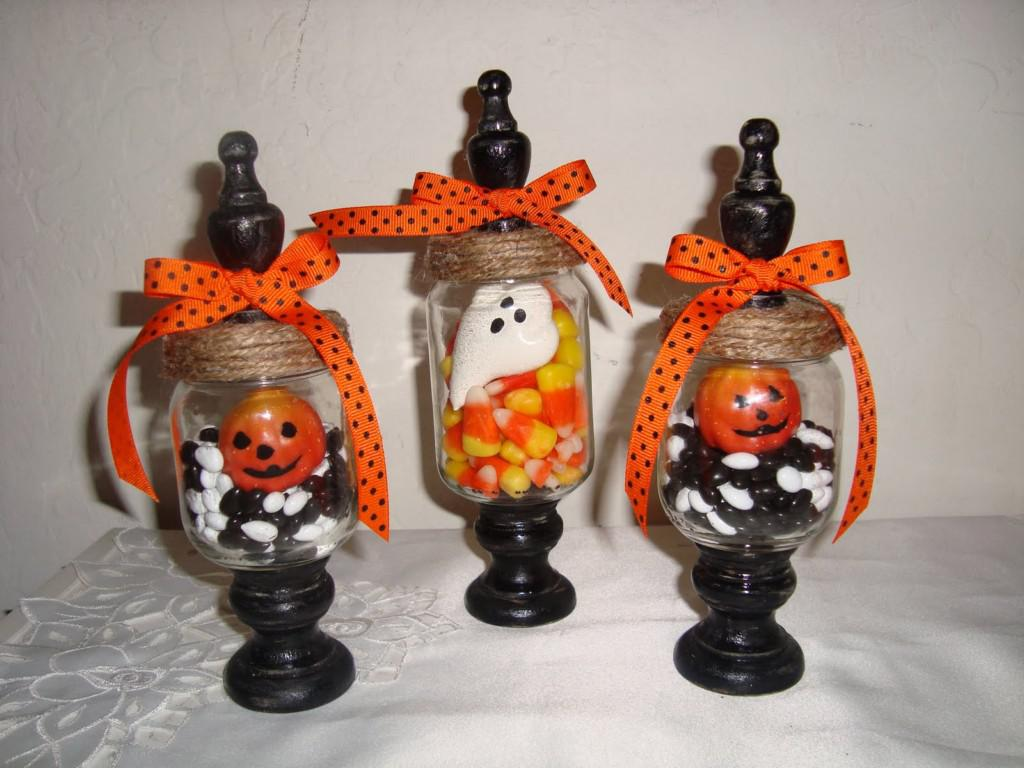 Image of: Decorative Jars For Halloween