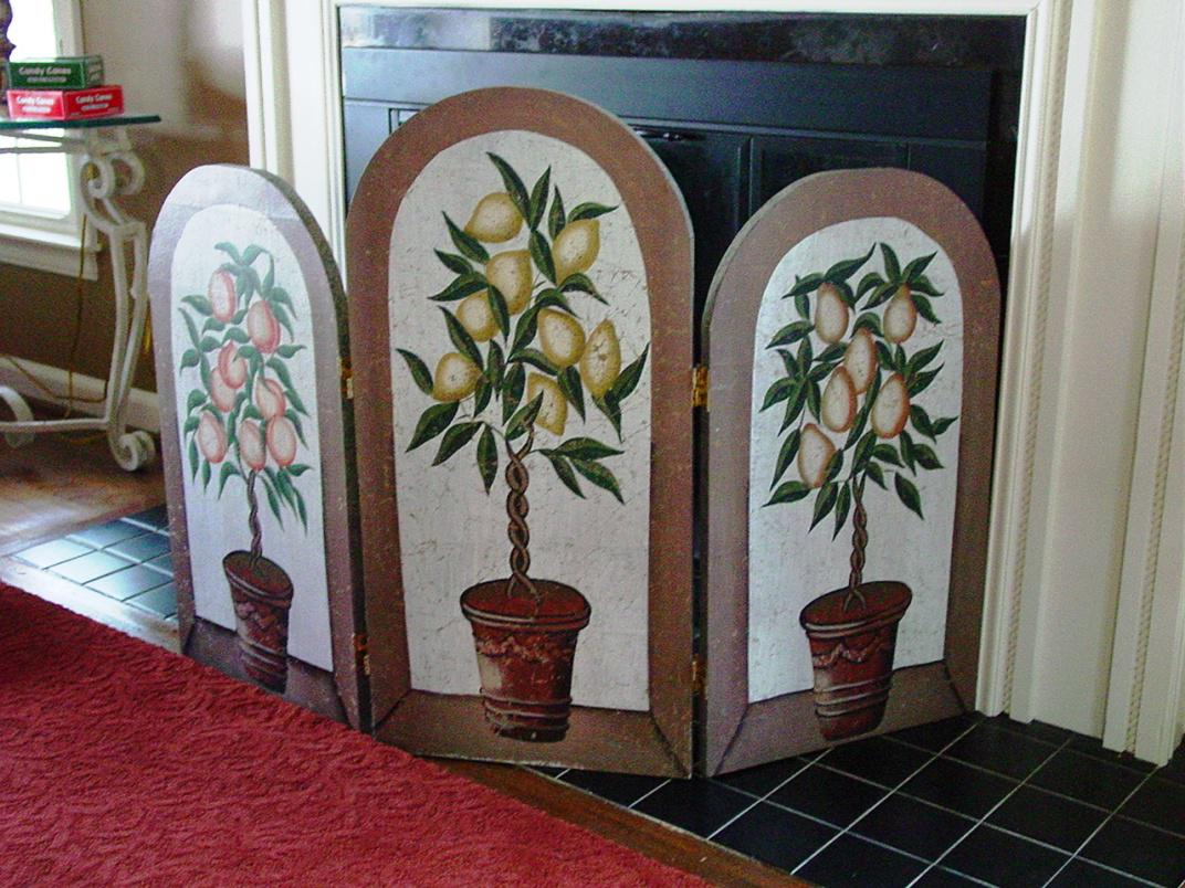 Image of: Fireplace Screens with Doors