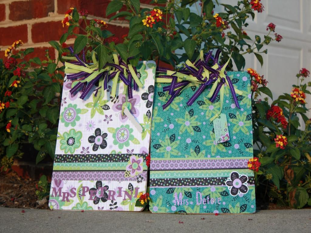 Image of: Floral Inspired Decorating Clipboards