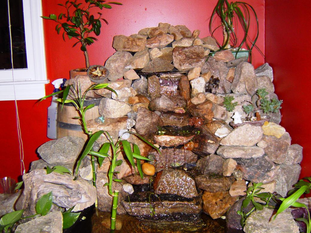 Image of: Indoor Rock Waterfalls