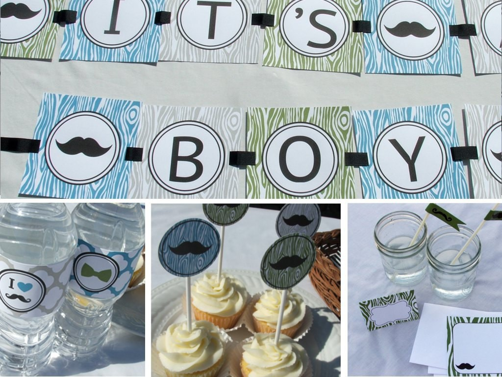 Image of: Mustache Baby Shower Cake Ideas