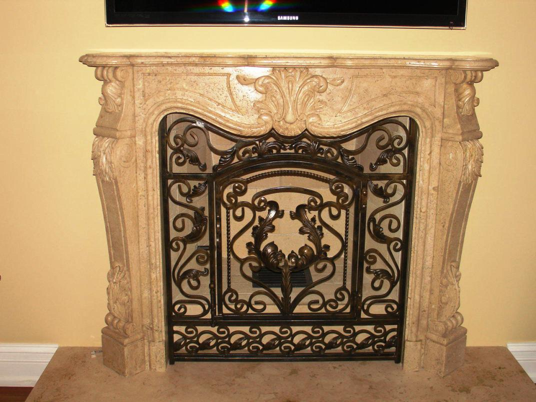 Image of: Painted Fireplace Screens