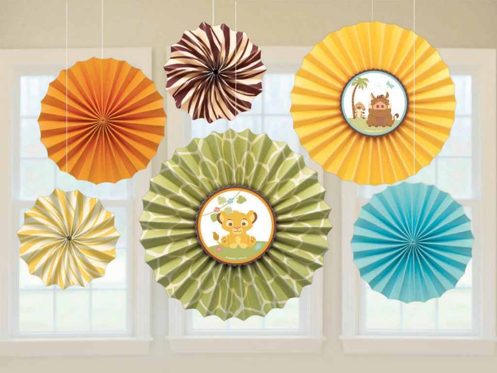 Image of: Paper Fan Decorations Diy