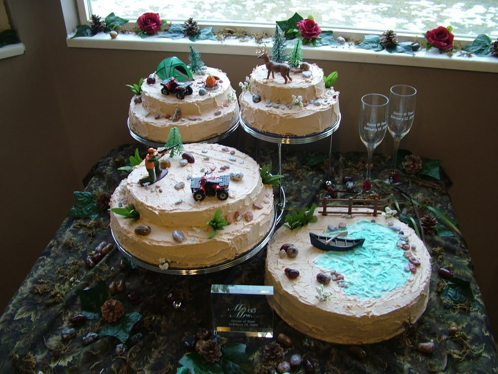 Image of: Redneck Wedding Cakes