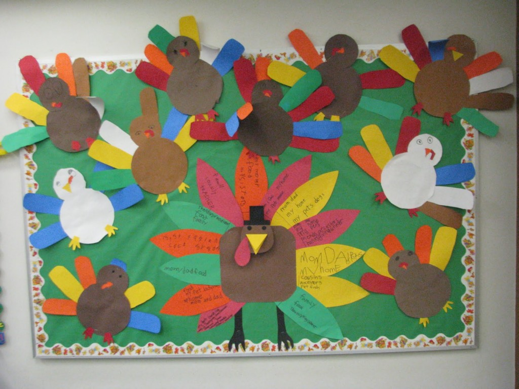 Image of: Thanksgiving Bulletin Board Ideas