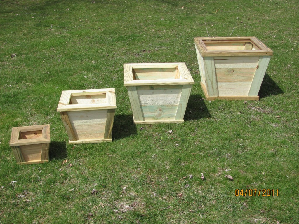 Image of: Vintage Wooden Flower Boxes