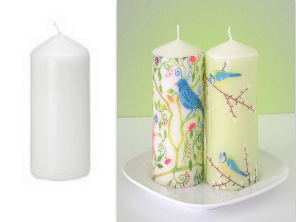 Image of: White Decorative Candle Lanterns