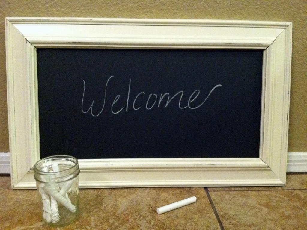 Image of: White Decorative Chalkboards