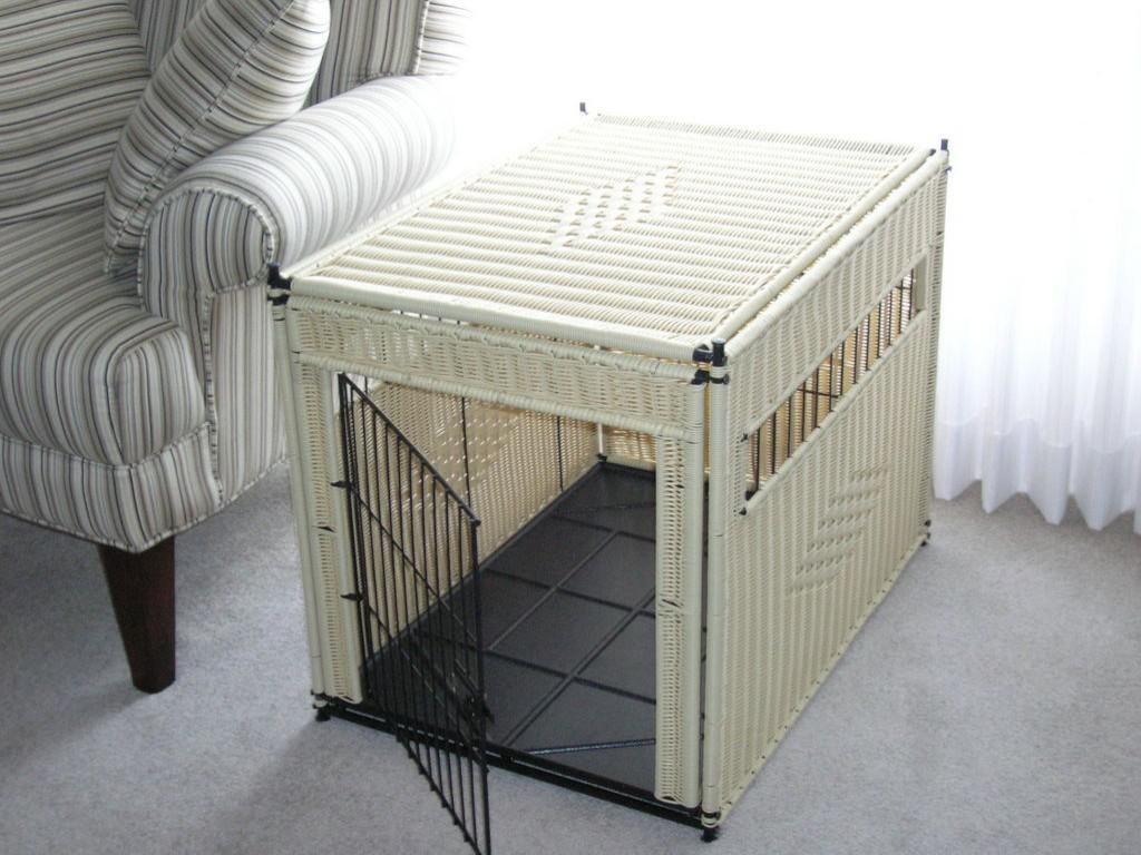 Image of: Wicker Decorative Dog Crates