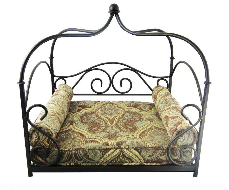 Image of: Black Wrought Iron Canopy Bed