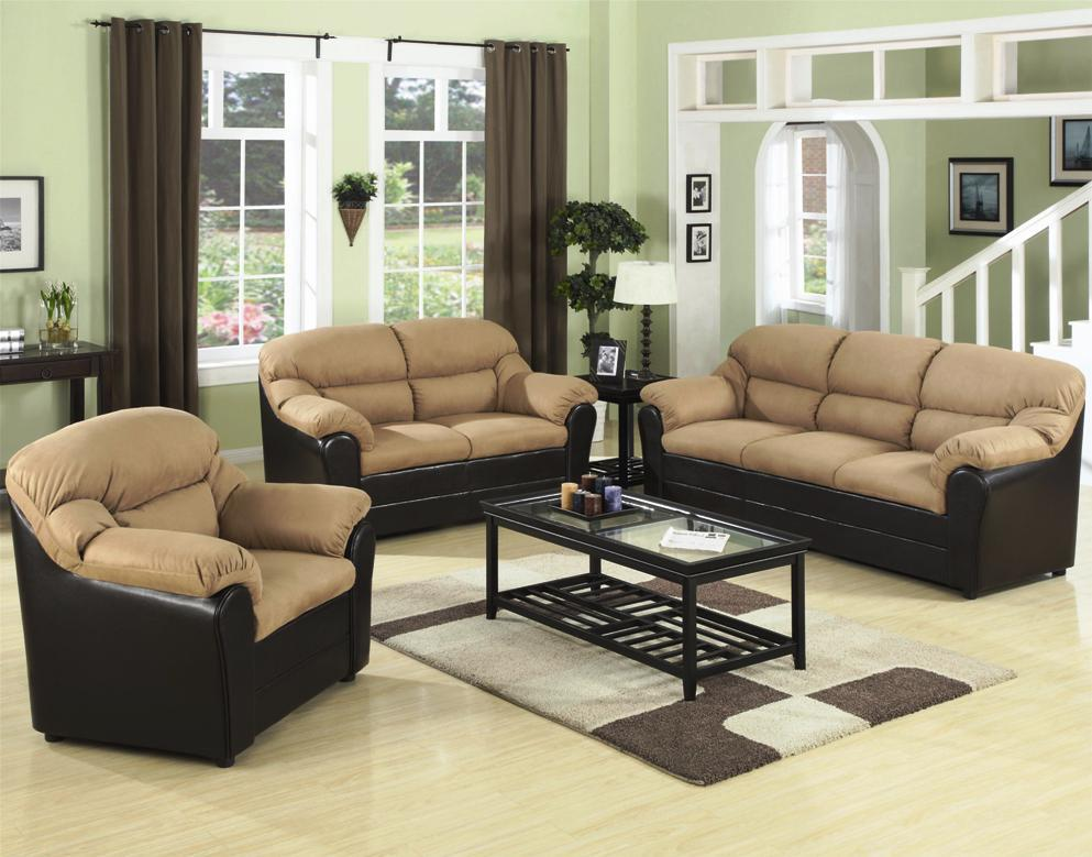 Image of: Contemporary Leather Living Room Sets